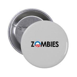 Anti-Obama - Zombies black Pins