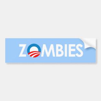 Anti-Obama - Zombies white Bumper Sticker
