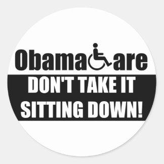 Anti ObamaCare Classic Round Sticker