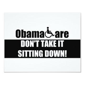 "Anti ObamaCare 4.25"" X 5.5"" Invitation Card"