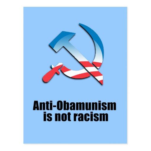 Anti-Obamunism no es el racismo Tarjeta Postal