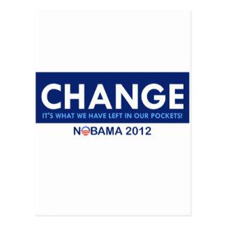 Anti Obanma: Change Postcard