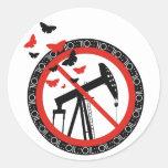 Anti Oil Exploitation Round Stickers