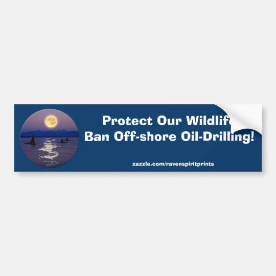 ANTI-OIL ORCA Bumper Sticker