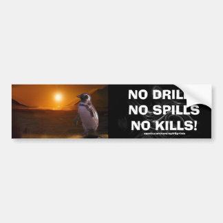 ANTI OIL-SPILL PENGUIN Wildlife Protection Bumper Sticker