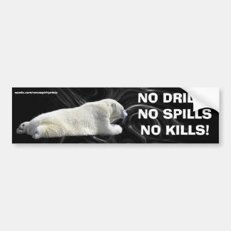 ANTI OIL-SPILL POLAR BEAR Wildlife Protection Car Bumper Sticker