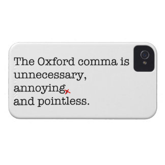 Anti-Oxford Comma Case-Mate iPhone 4 Cases