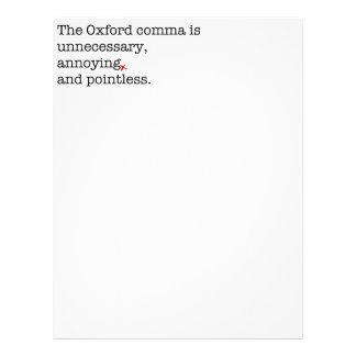 Anti-Oxford Comma Letterhead