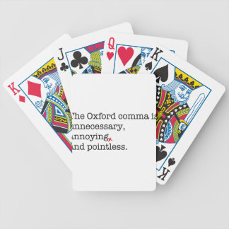 Anti-Oxford Comma Bicycle Playing Cards