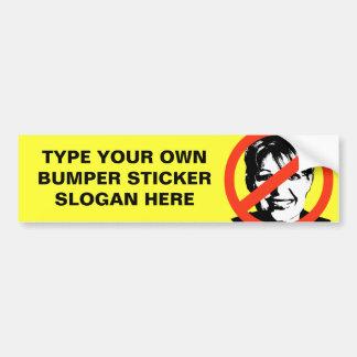 ANTI-PALIN: ANTI-Sarah Palin Bumper Sticker