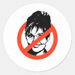 Anti-Palin Classic Round Sticker