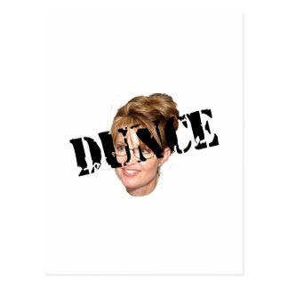 Anti-Palin Dunce Postcard