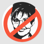 Anti-Palin Pegatina Redonda