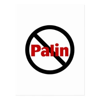 Anti Palin Postcard