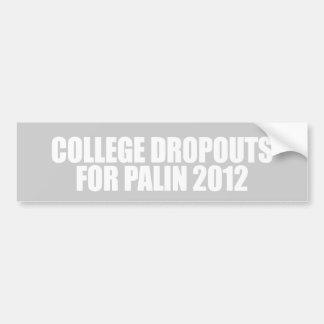ANTI-PALIN - Salidas de universidad para Palin Pegatina Para Auto