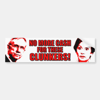 Anti Pelosi - Anti Reid - Clunkers Bumper Sticker
