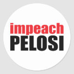 Anti-Pelosi: Impeach Pelosi Classic Round Sticker
