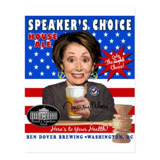 Anti-Pelosi Speaker's Choice Ale Postcard