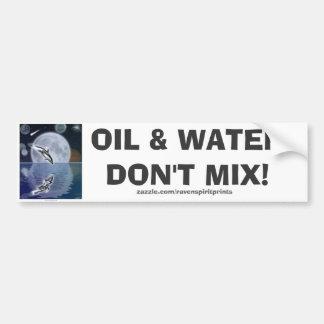 ANTI-POLLUTION BREACHING DOLPHIN Bumper Sticker