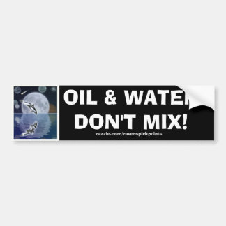 ANTI-POLLUTION BREACHING DOLPHIN Bumper Sticker Car Bumper Sticker