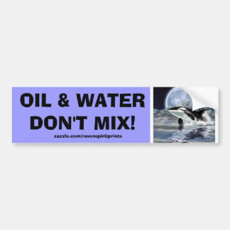 ANTI-POLLUTION BREACHING ORCA Bumper Sticker