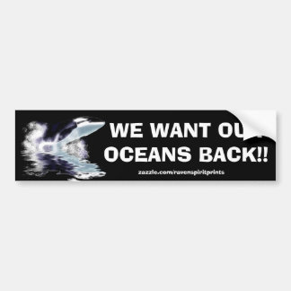 ANTI-POLLUTION BREACHING ORCA Bumper Sticker Car Bumper Sticker