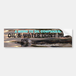 ANTI-POLLUTION OCEAN SEAL Bumper Sticker Car Bumper Sticker
