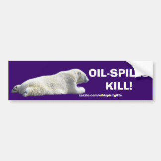 ANTI-POLLUTION POLAR BEAR Bumper Sticker Car Bumper Sticker
