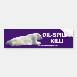 ANTI-POLLUTION POLAR BEAR Bumper Sticker