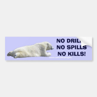 ANTI-POLLUTION POLAR BEAR Wildlife Protection Car Bumper Sticker