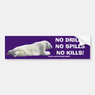 ANTI-POLLUTION POLAR BEAR Wildlife Protection Bumper Sticker