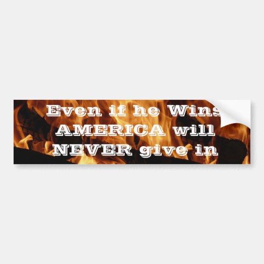 Anti president bumper sticker