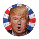 Anti President Donald Trump - Big Mouth Dartboard With Darts<br><div class='desc'>Demonstrate your contempt for Donald Trump and the frightening future of a Donald Trump presidency with this Trump in his face big mouth dartboard.</div>