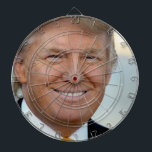 "Anti President Donald Trump Dartboard<br><div class=""desc"">Demonstrate your contempt for Donald Trump and the frightening future of a Donald Trump presidency with this Trump dartboard</div>"