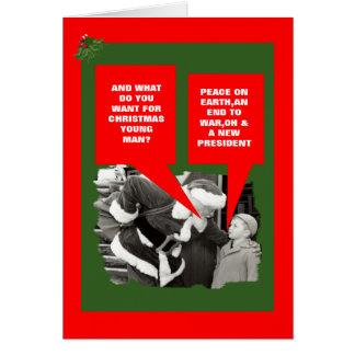 Anti President Obama happy holidays Cards