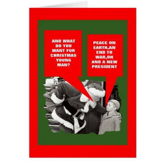 Anti President Obama happy holidays Card