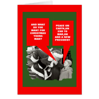Anti President Obama happy holidays Greeting Card