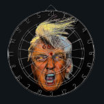 "Anti President Trump Big Mouth Devil Dartboard With Darts<br><div class=""desc"">I don&#39;t know if Donald Trump is the anti-christ but he sure meets the criteria,  and just look at those glowing eyes and the 666 branded on his forehead!</div>"