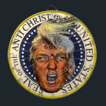"Anti President Trump Seal of the Anti Christ Dartboard<br><div class=""desc"">I don"