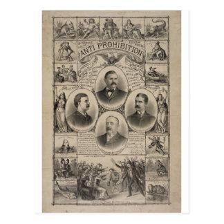 Anti Prohibition by Kurz & Allison (1888) Postcard