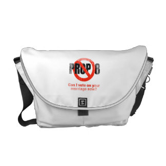 ANTI PROP 8 - Can I vote on your marriage Faded.pn Messenger Bags