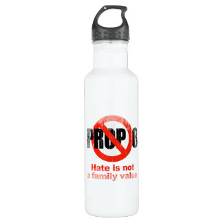 ANTI PROP 8 - Hate is not a family value Faded.png 24oz Water Bottle
