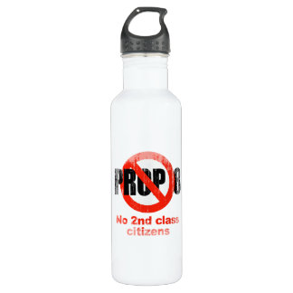 ANTI PROP 8 - No 2nd class Faded.png 24oz Water Bottle