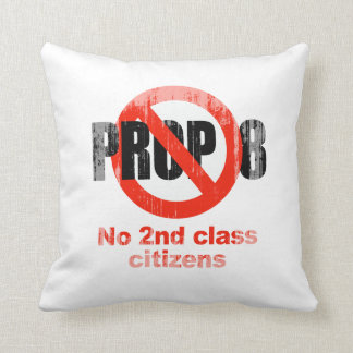 ANTI PROP 8 - No 2nd class Faded.png Throw Pillow