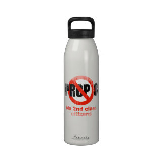 ANTI PROP 8 - No 2nd class Faded.png Water Bottles