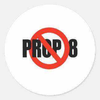 ANTI-PROP 8 PEGATINA REDONDA