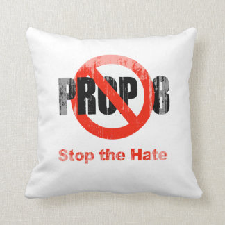 ANTI PROP 8 - Stop the Hate Faded.png Throw Pillows