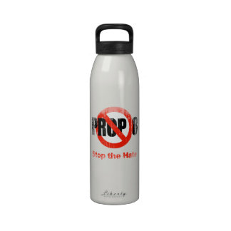 ANTI PROP 8 - Stop the Hate Faded.png Reusable Water Bottle