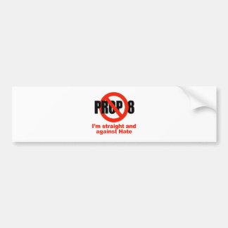 ANTI PROP 8 - Straight against Hate Bumper Sticker
