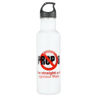 ANTI PROP 8 - Straight against Hate Faded.png 24oz Water Bottle